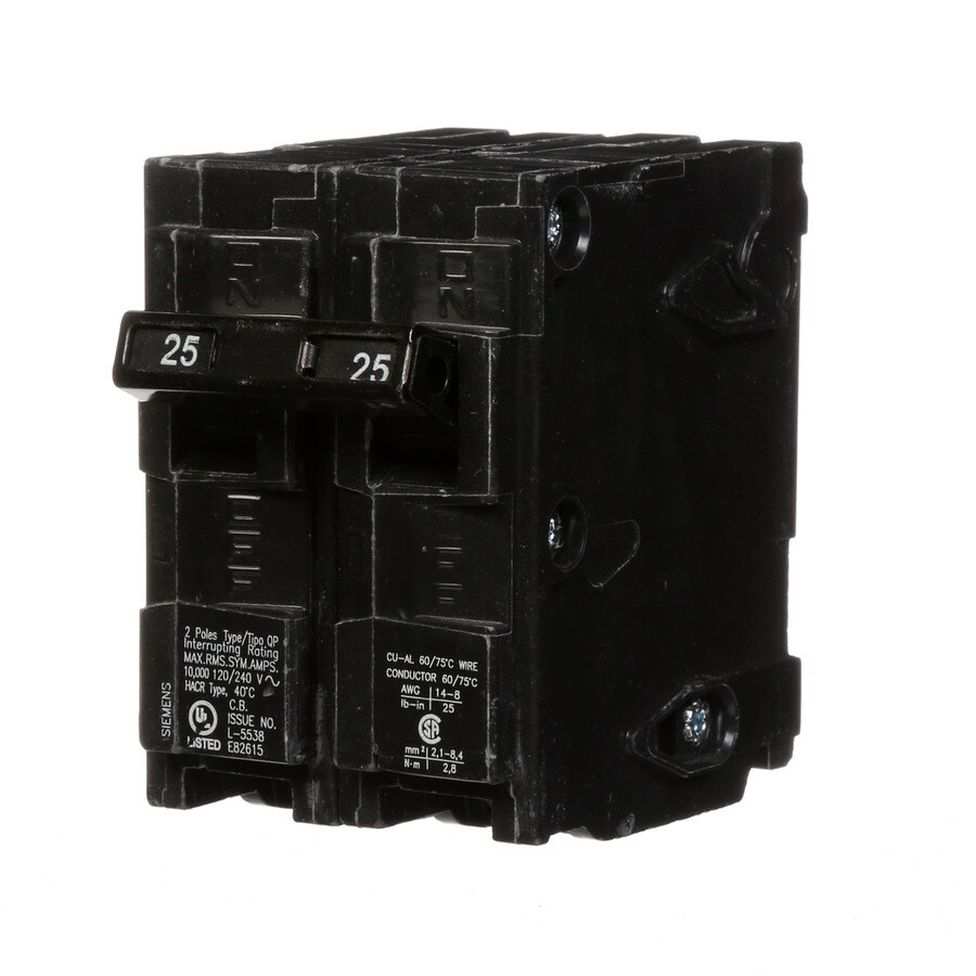 Shop Siemens Qp 25-Amp 2-Pole Main Circuit Breaker at Lowes.com