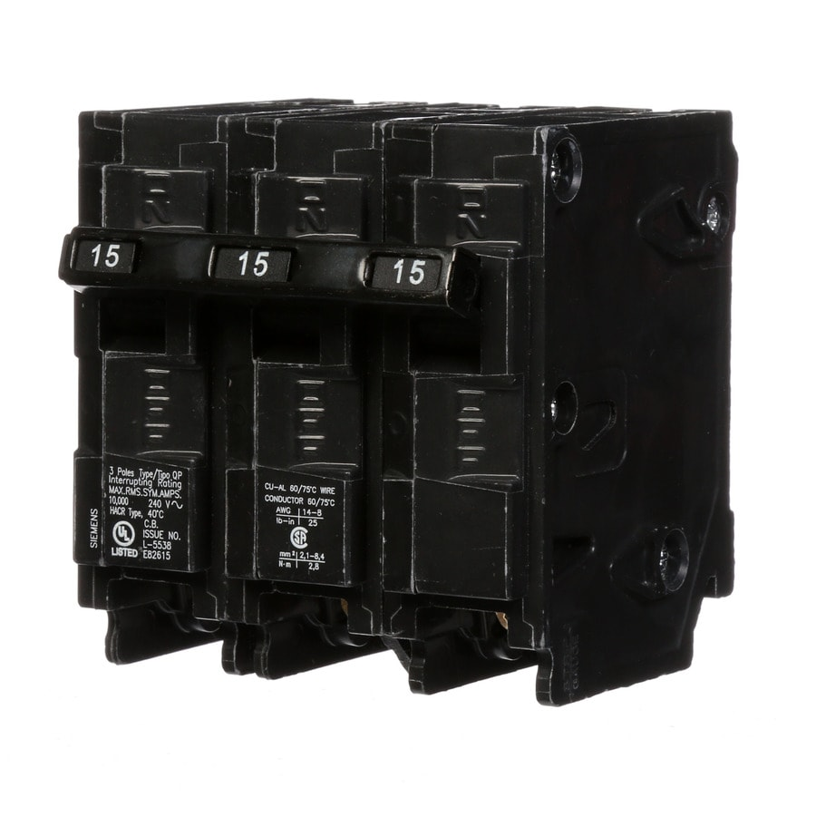 Siemens Qp 15-Amp 3-Pole Main Circuit Breaker