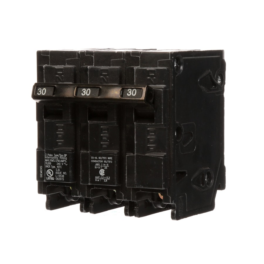 Siemens Qp 30-Amp 3-Pole Main Circuit Breaker