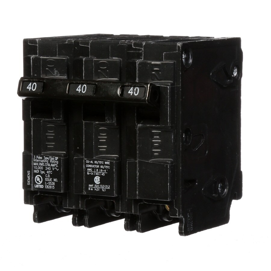 Siemens Qp 40-Amp 3-Pole Main Circuit Breaker