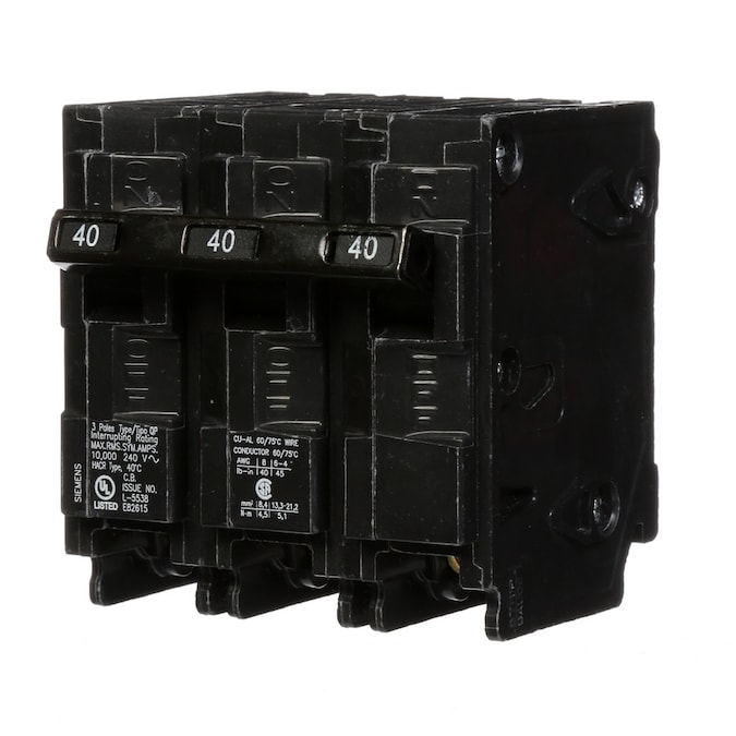 Siemens 5SX43 40 Amp Type B Circuit Breaker MCB 3 Phase Pole