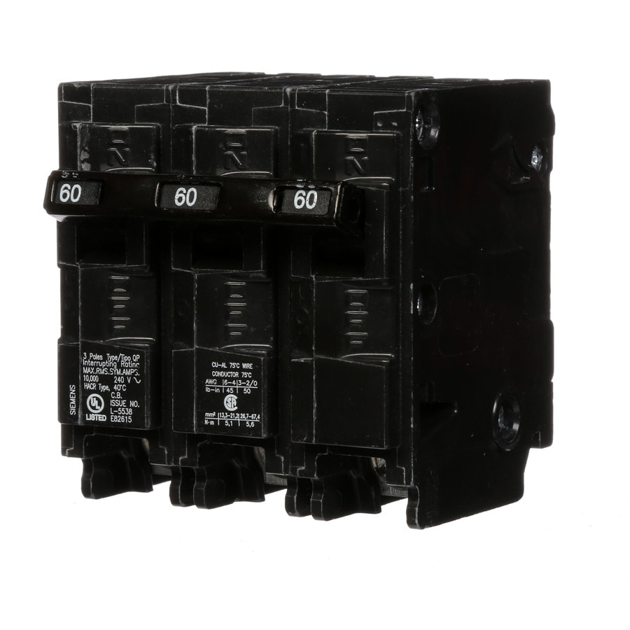 Siemens Qp 60-Amp 3-Pole Main Circuit Breaker