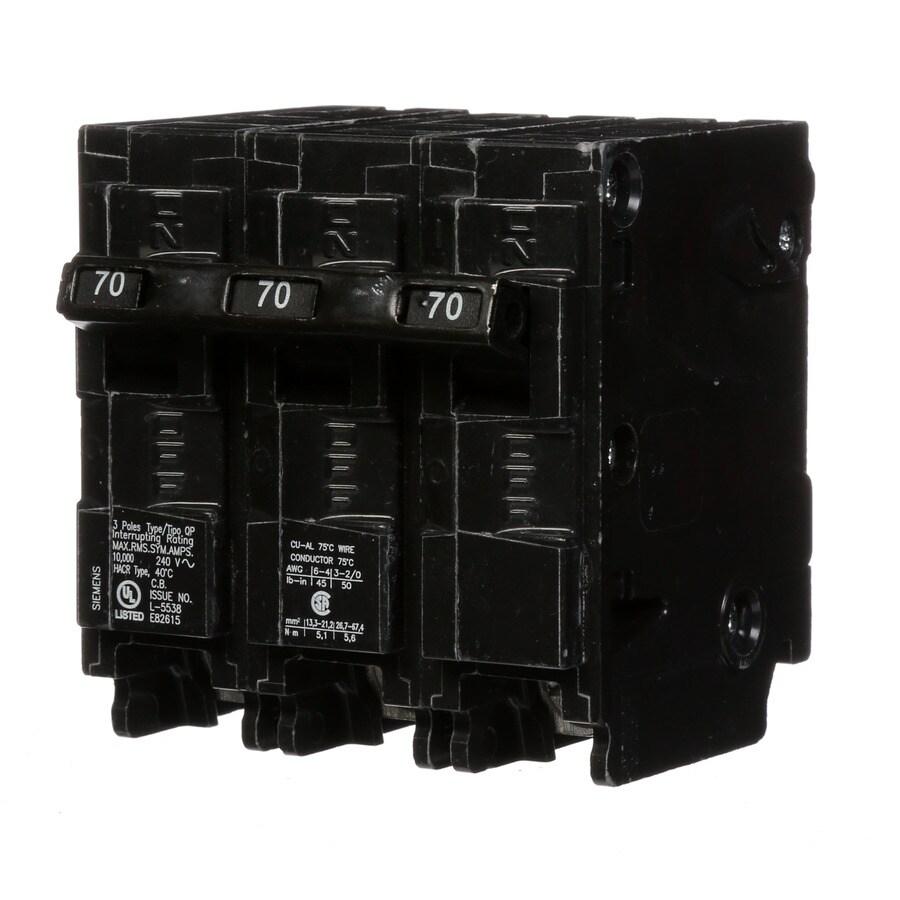 Siemens Qp 70-Amp 3-Pole Main Circuit Breaker