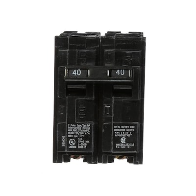Siemens Qp 40-Amp 2-Pole Main Circuit Breaker at Lowes com