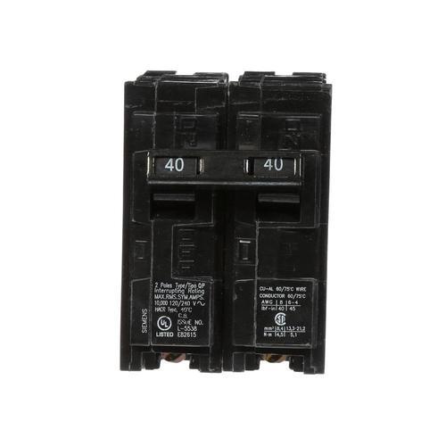 Siemens Qp 40 Amp 2 Pole Standard Trip Circuit Breaker In The Circuit Breakers Department At Lowes Com