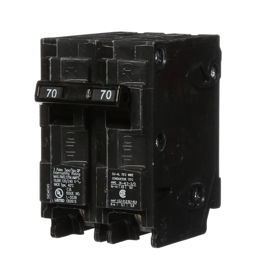 Siemens Qp 70-Amp 2-Pole Main Circuit Breaker