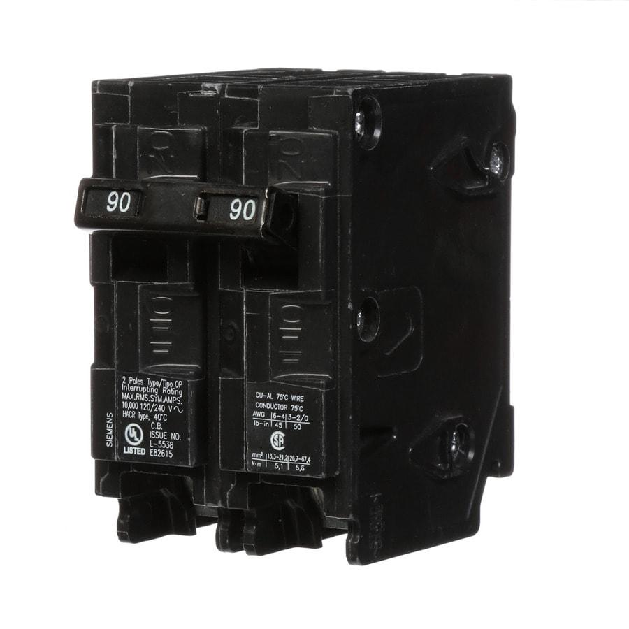 Siemens Qp 90-Amp 2-Pole Main Circuit Breaker