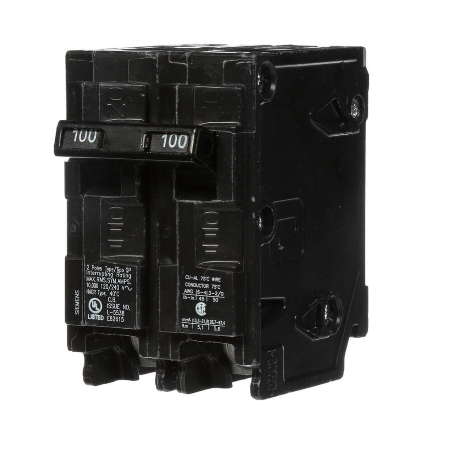 Siemens Qp 100-Amp 2-Pole Main Circuit Breaker