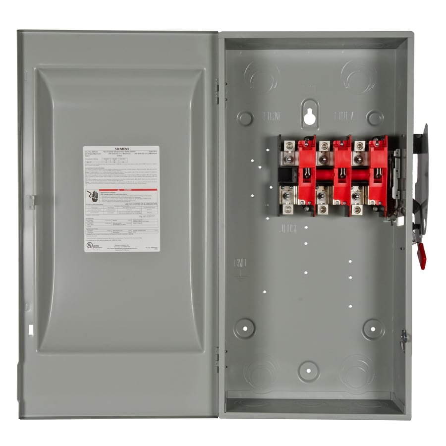 Shop Siemens 200 Amp Non Fusible Metallic Safety Switch At