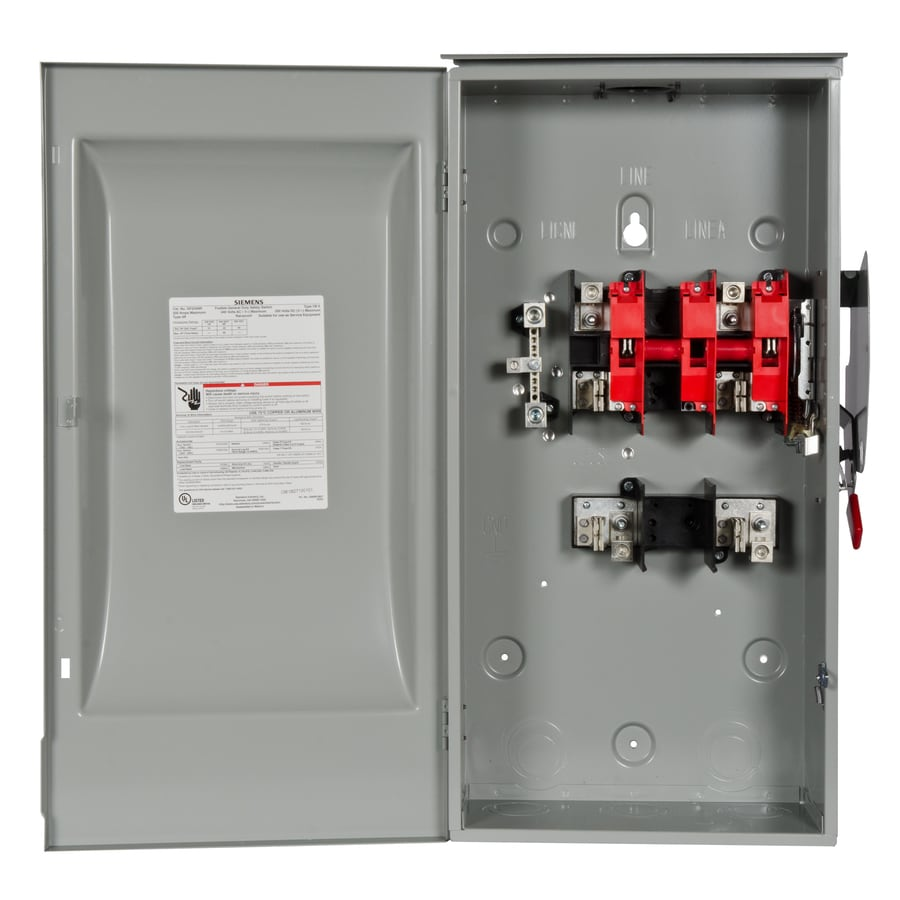Siemens 200 Amp Fusible Metallic Safety Switch At Lowescom