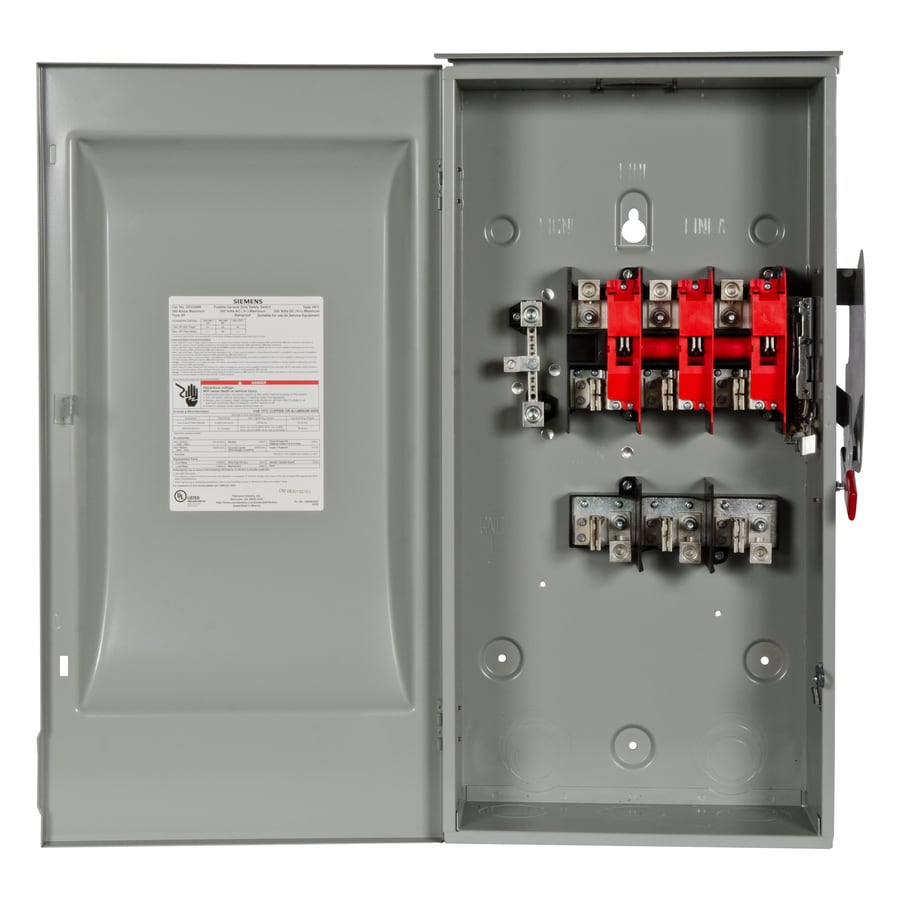Shop Siemens 200 Amp Fusible Metallic Safety Switch At