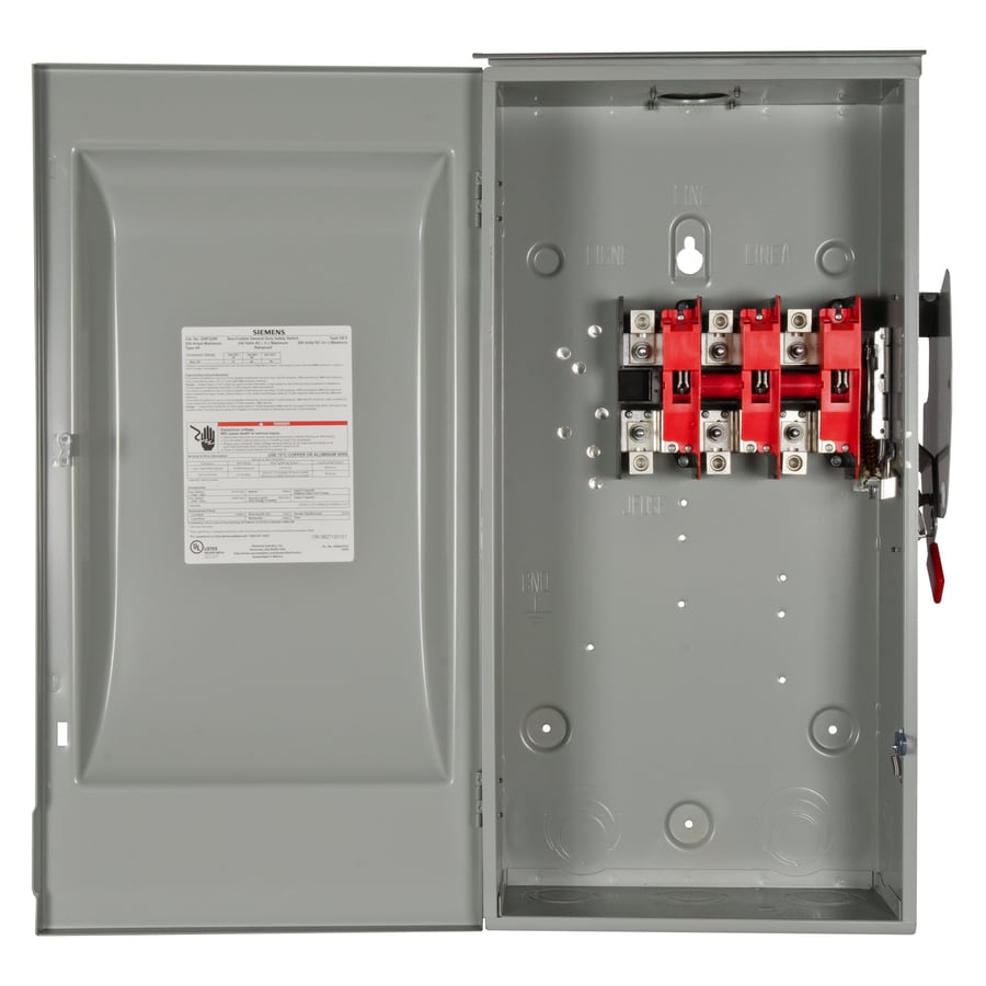Siemens 200-Amp Non-Fusible Metallic Safety Switch