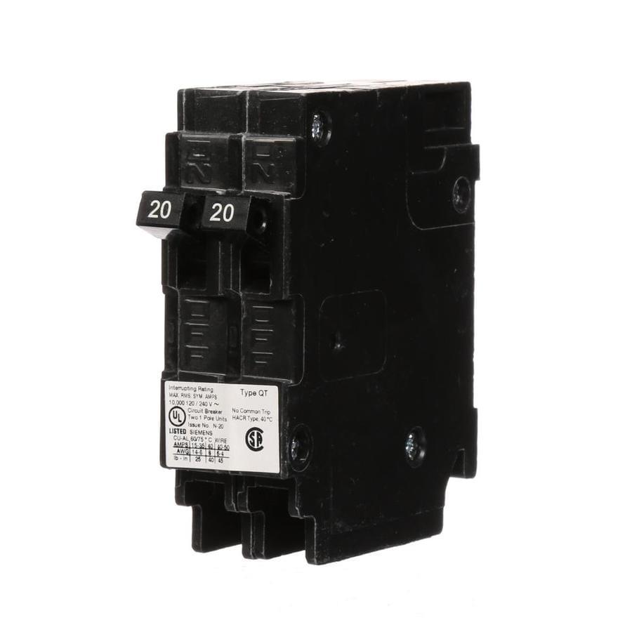 Siemens Qt 20 Amp 2-Pole Tandem Circuit Breaker