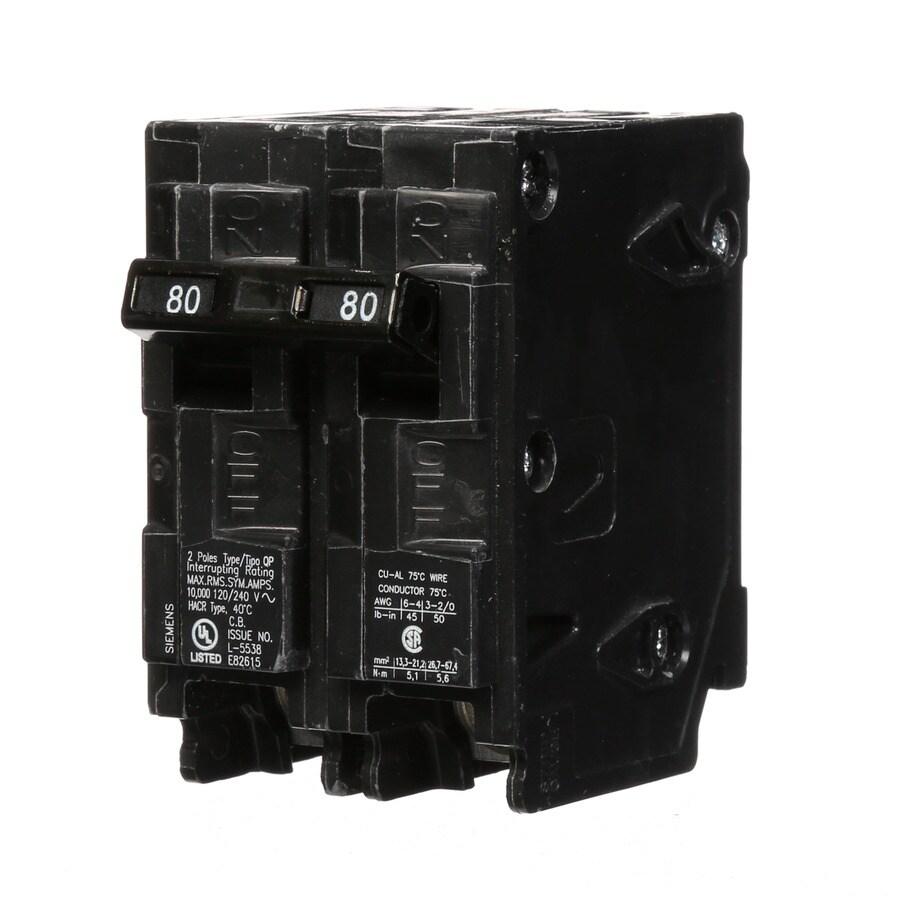 Siemens Qp 80-Amp 2-Pole Main Circuit Breaker
