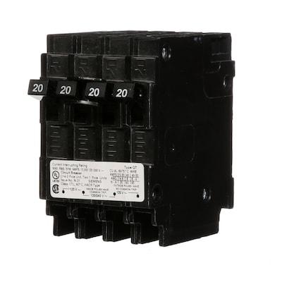 Siemens Qp 20-Amp 2-Pole Quad Circuit Breaker at Lowes com