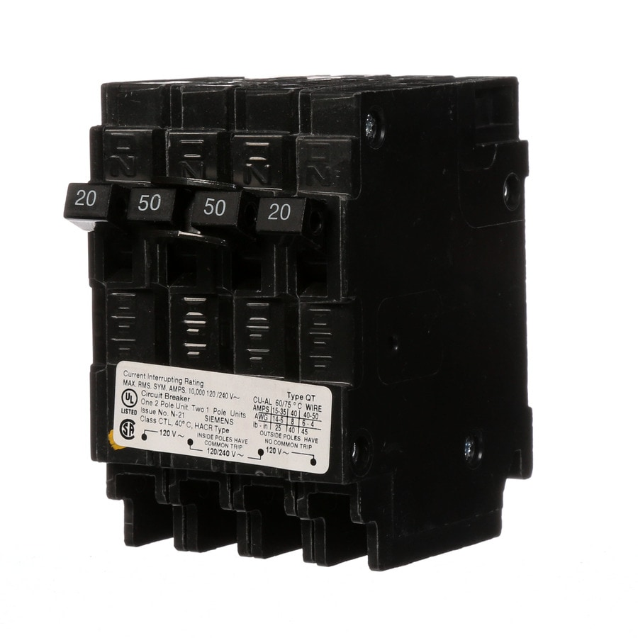 Siemens QP 50-Amp 4-Pole Tandem Circuit Breaker