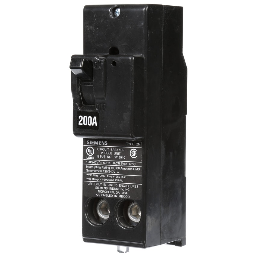 Siemens Double Pole Circuit Breaker 20amp Doublepole Type Mpcircuit Breakermp220u The Home Depot Qp200 Amp 2 Main