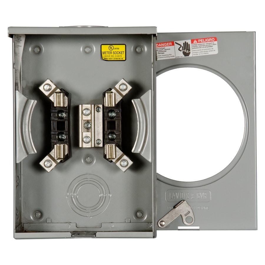 Siemens 135-Amp Ringless Single Phase (120/240) Meter Socket