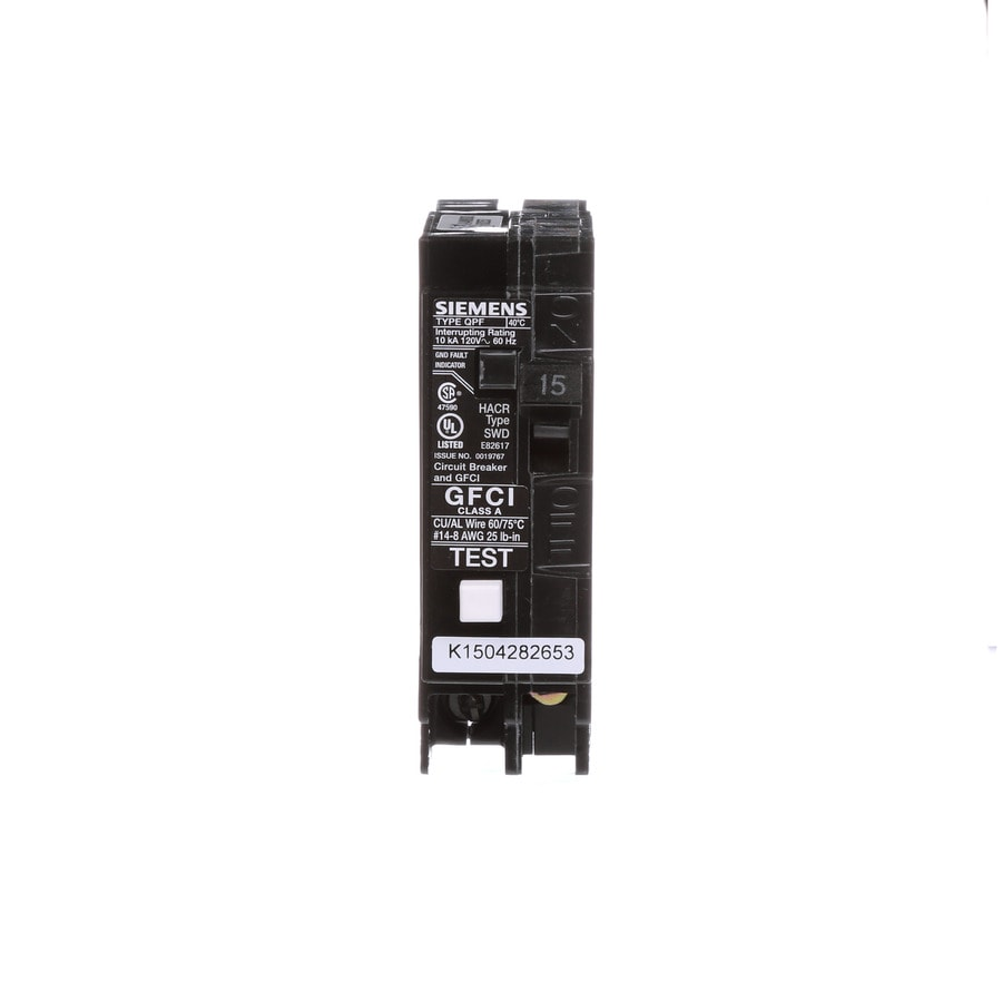 shop siemens qp 60amp ground fault circuit breaker at lowescomsiemens qp 15 amp 1 pole gfci circuit breaker at lowes comsiemens qp 15 amp 1