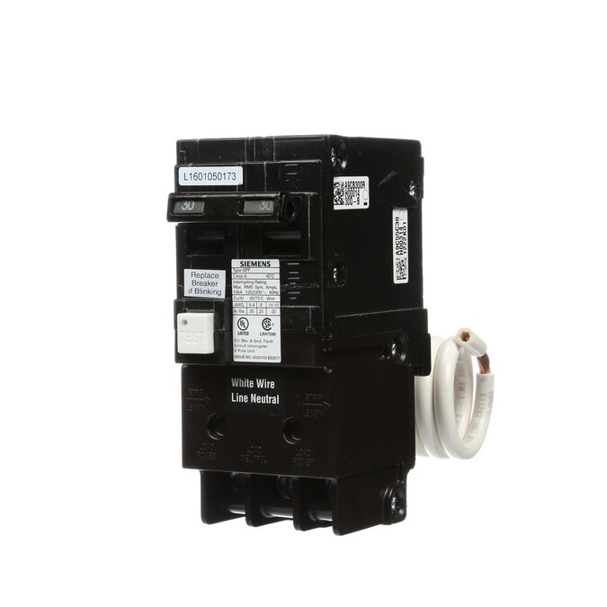 Siemens Qp 30 Amp 2 Pole Gfci Circuit Breaker In The Circuit Breakers Department At Lowes Com