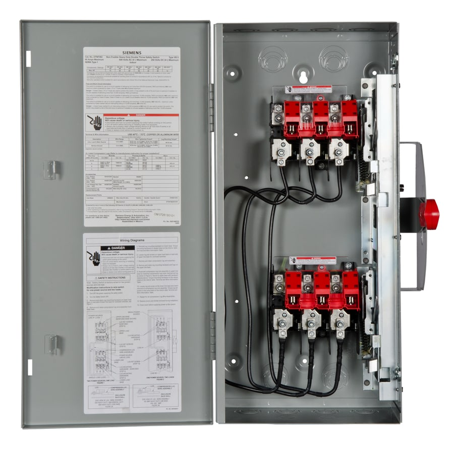 Siemens 60 Amp Non Fusible Metallic Safety Switch At Lowes Com