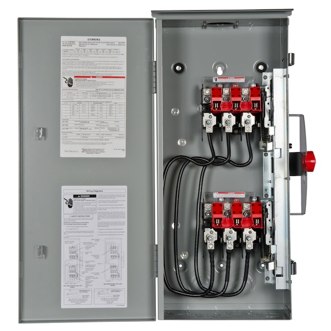 Siemens 100 Amp 3 Pole Non Fusible Heavy Duty Safety Switch Disconnect In The Electrical Disconnects Department At Lowes Com