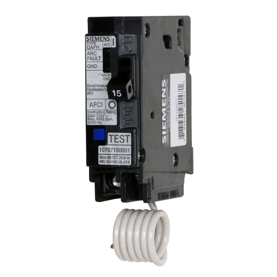 Siemens QP 20-Amp 1-Pole Combination Arc Fault Circuit Breaker