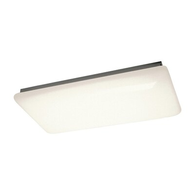 finest selection 62074 afea0 White Acrylic Flush Mount Fluorescent Light (Common: 4-Ft; Actual: 51.5-in)