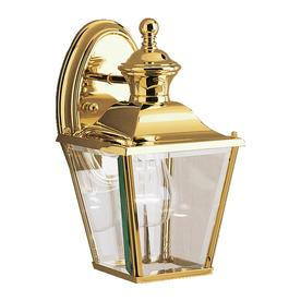 Kichler Bay Shore 10.25 In H Polished Brass Outdoor Wall Light
