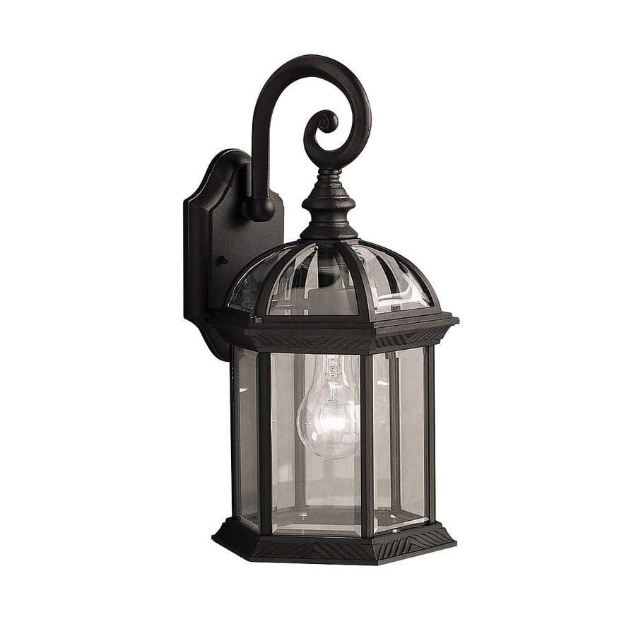 Kichler barrie 15 5 in h black outdoor wall light