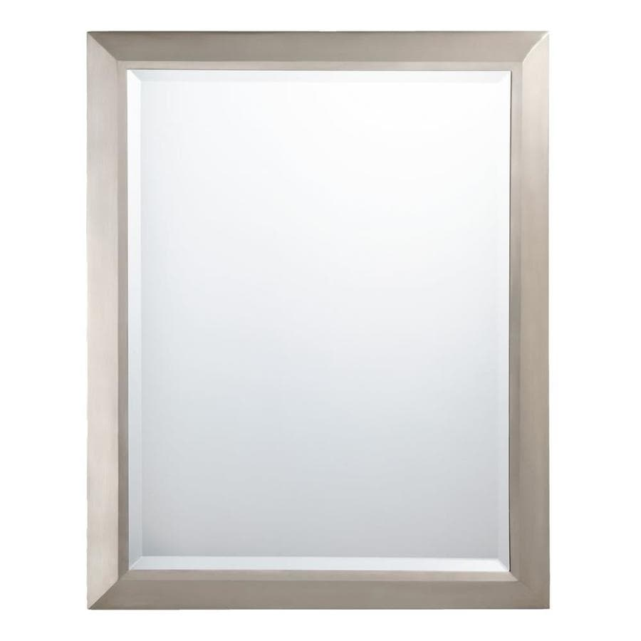 Kichler 24 In Brushed Nickel Rectangular Bathroom Mirror In The Bathroom Mirrors Department At Lowes Com