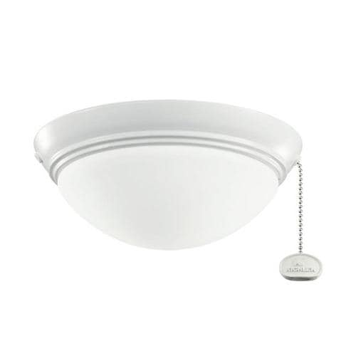 Kichler 2 Light White Powder Coat Halogen Ceiling Fan Light Kit With Etched Cased Opal Shade At