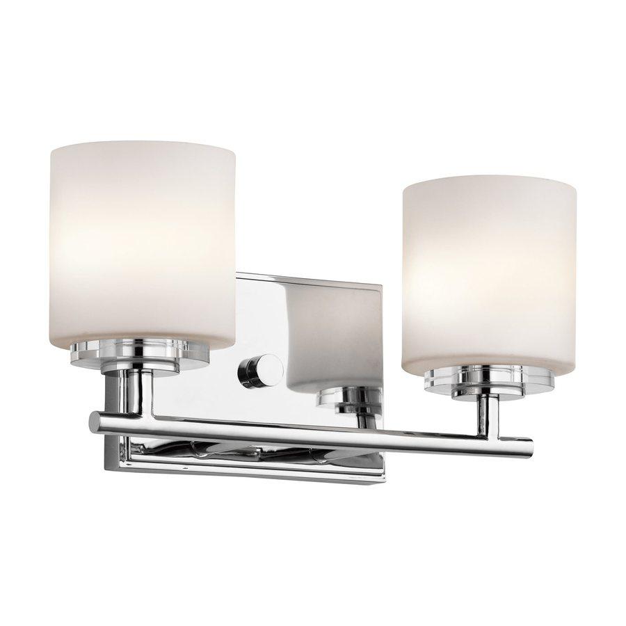 13 Dreamy Bathroom Lighting Ideas: Kichler O Hara 2-Light 13-in Chrome Cylinder Vanity Light