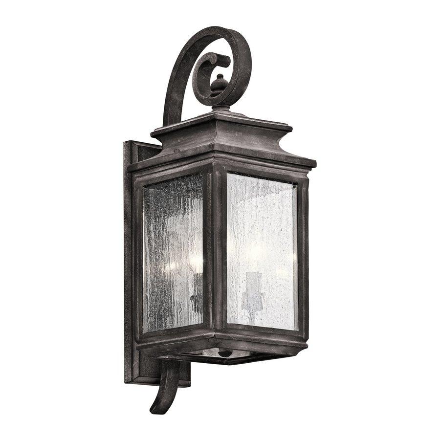 Ashland Pedestal Lantern In Weathered Zinc: Kichler Wiscombe Park 21.75-in H Weathered Zinc Outdoor