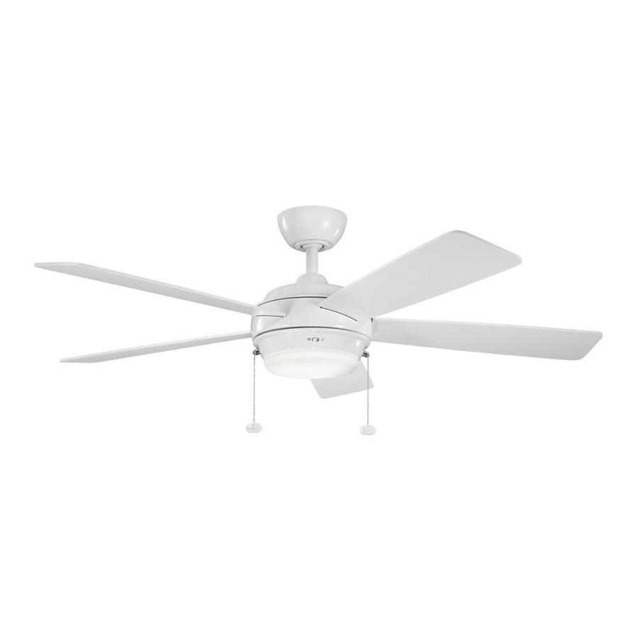 Lowes Com Ceiling Fans: Kichler Starkk 52-in White Indoor Downrod Ceiling Fan With