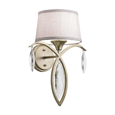 free shipping 864ba 32fc1 Casilda 13.5-in W 1-Light Sterling Gold Transitional Wall Sconce