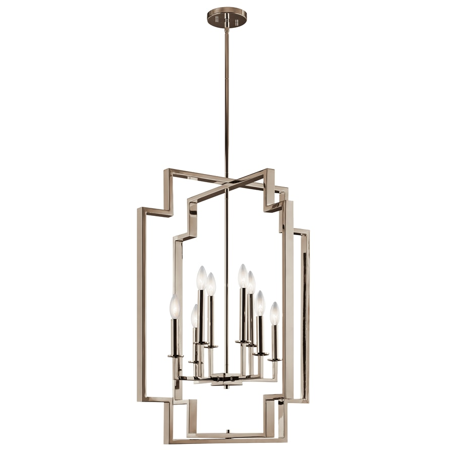 Kichler Downtown Deco 8 Light Polished Nickel Modern Contemporary Cage Chandelier In The Chandeliers Department At Lowes Com