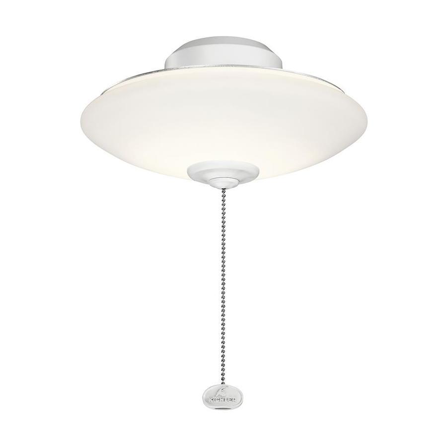Kichler 10 In Low Profile Dimmable Led Ceiling Fan Light