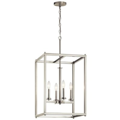 Kichler Crosby Brushed Nickel Modern Contemporary Cage