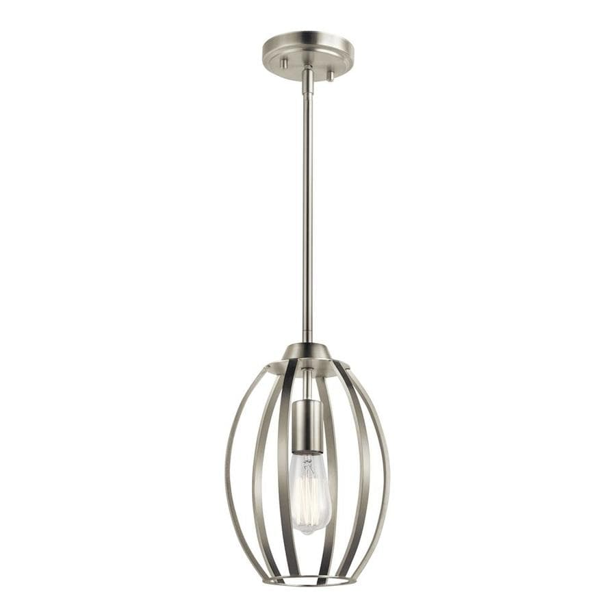 Kichler Tao Brushed Nickel Modern Contemporary Teardrop Mini Pendant Light In The Pendant Lighting Department At Lowes Com