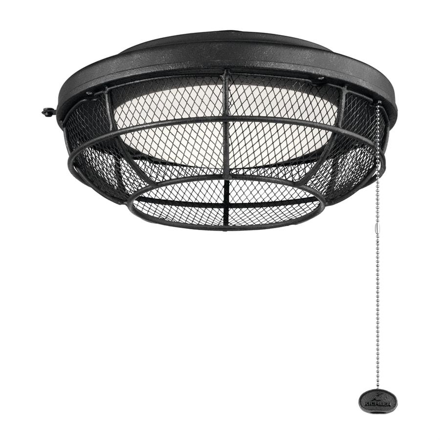 Kichler Industrial Mesh LED Ceiling Fan Light Kit At Lowes.com
