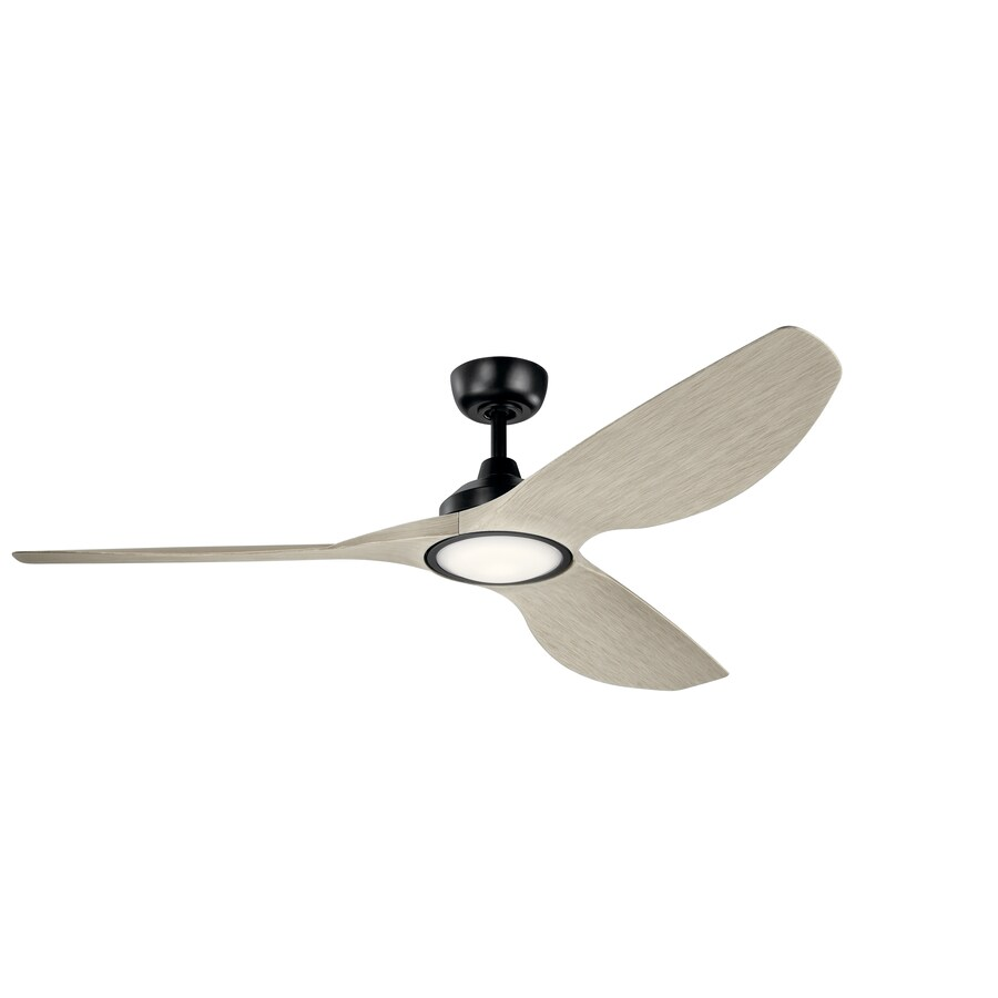Kichler Imari 65 In Satin Black Led Indoor Outdoor Ceiling