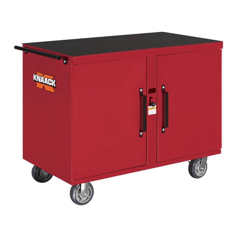 KNAACK 25-in W x 46.25-in L x 37.5-in Steel Jobsite Box
