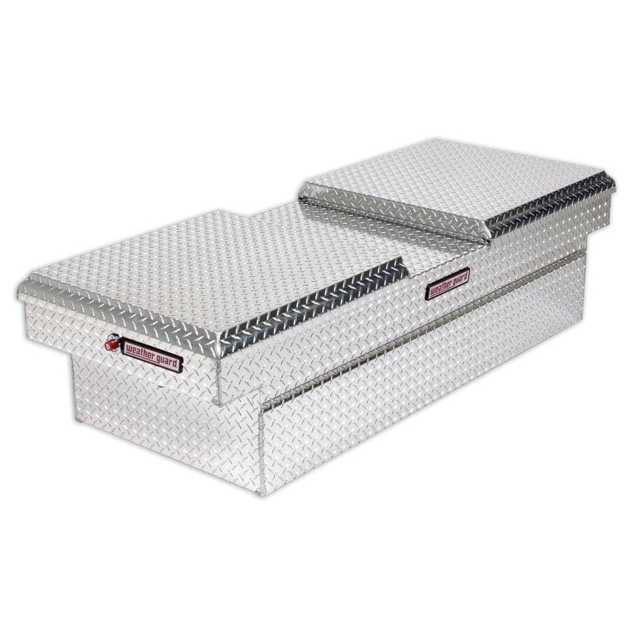 WEATHER GUARD 71.5-in x 27.5-in x 18.5-in Silver Aluminum Full-Size Truck Tool Box