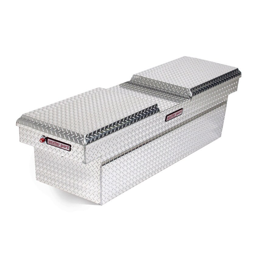 WEATHER GUARD 72-in x 20.5-in x 18.375-in Silver Aluminum Full-Size Truck Tool Box