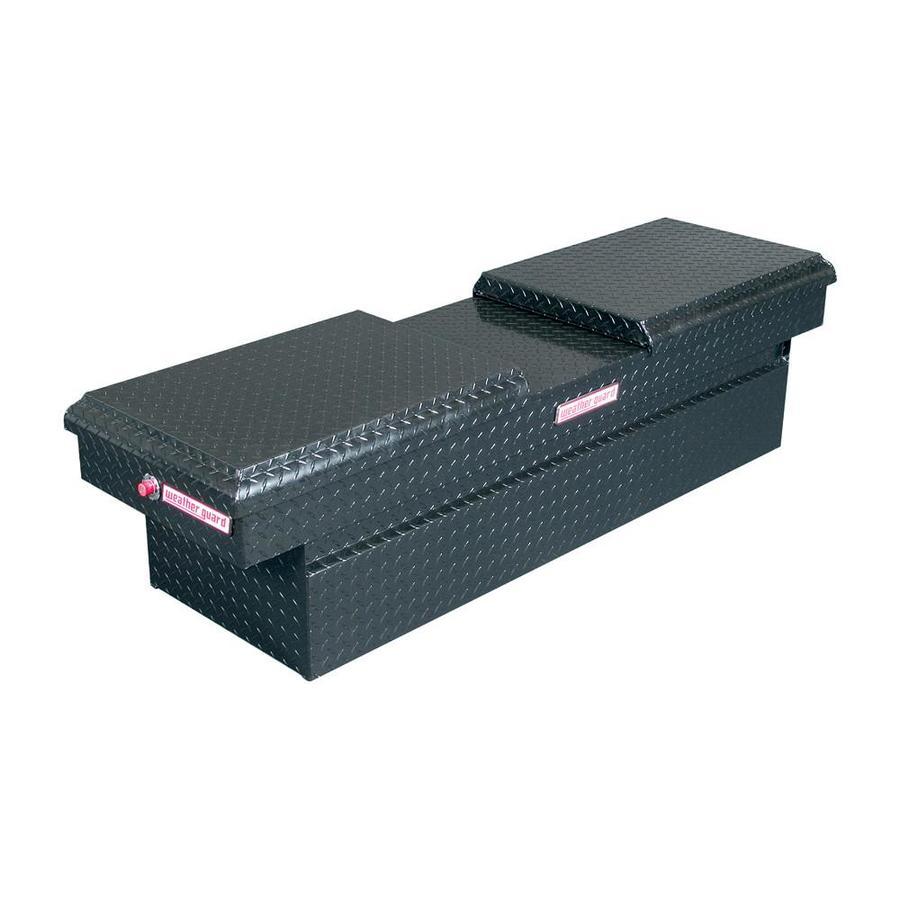 WEATHER GUARD 72-in x 20.5-in x 18.375-in Black Aluminum Full-Size Truck Tool Box