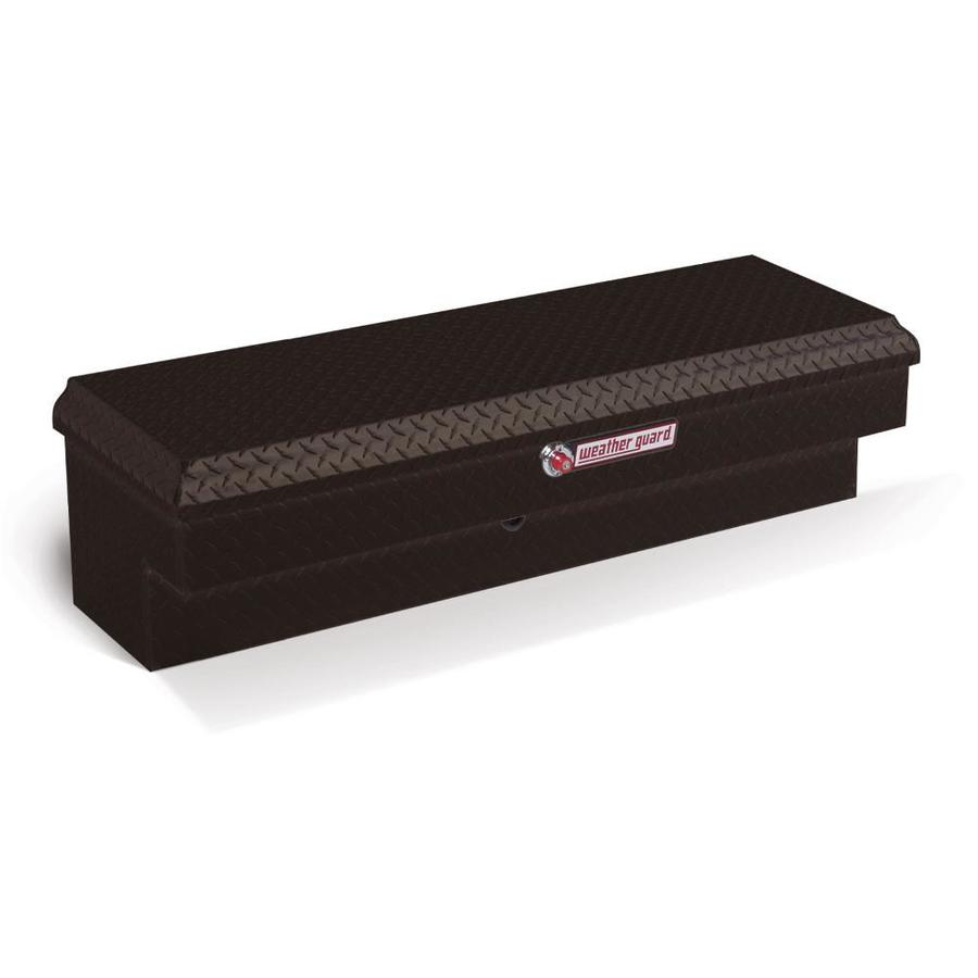 WEATHER GUARD 47.25-in x 16.25-in x 13.25-in Black Aluminum Universal Truck Tool Box