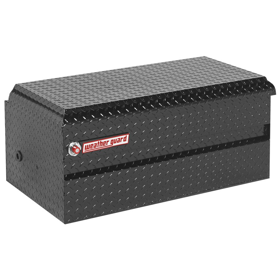 WEATHER GUARD 62-in x 20-in x 19.25-in Black Aluminum Universal Truck Tool Box