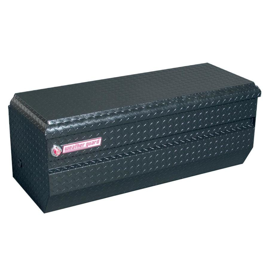 WEATHER GUARD 47-in x 20.25-in x 19.25-in Black Aluminum Universal Truck Tool Box