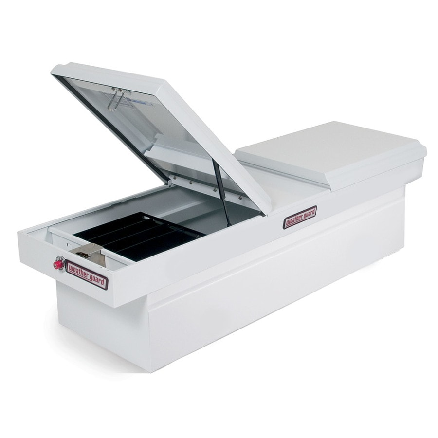 WEATHER GUARD 71.5-in x 20-in x 17.875-in White Steel Full-Size Truck Tool Box